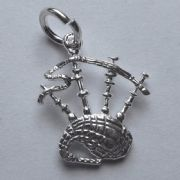 Sterling Silver Large Scottish Bag Pipes Charm